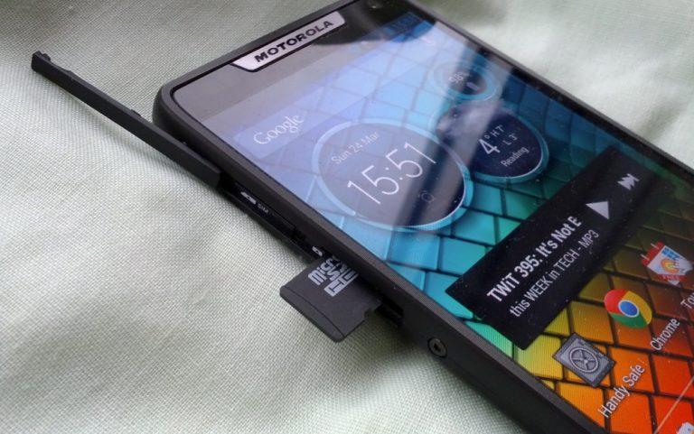 Cмартфон не видит SD карту
