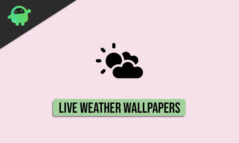 Лучшие приложения Live Weather Wallpaper для Android