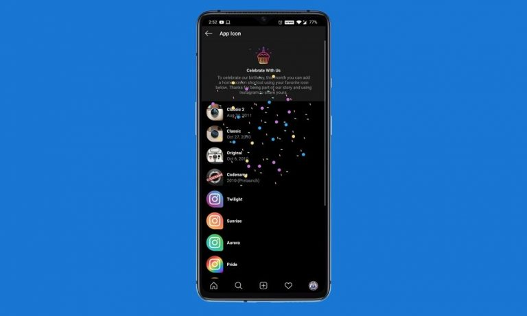Как изменить значок приложения Instagram на Android и iOS
