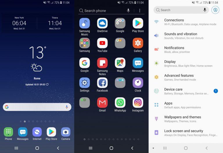 Установите тему 9.0 Pie на Galaxy S9 и Galaxy S8 [Samsung Experience 10 Theme]