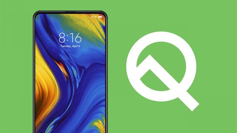 Скачать бета-прошивку Android Q для Xiaomi Mi Mix 3 5G [Android 10 Developer Preview]