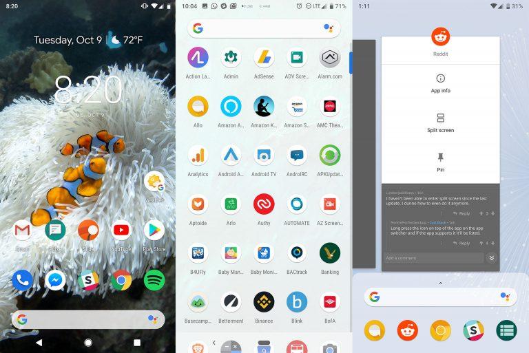 Загрузить APK-файл Google Pixel 3 и Pixel 3 XL Launcher (Oreo и Pie)