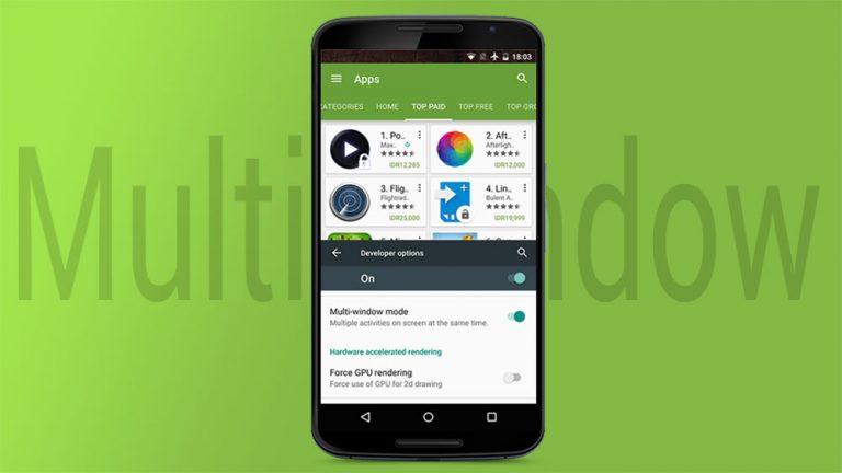 Включите многооконный режим на Android Marshmallow и используйте два приложения (с рутом и без него)