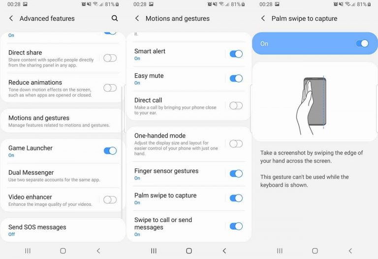 3 способа сделать снимок экрана на Samsung Galaxy M42 (5G)