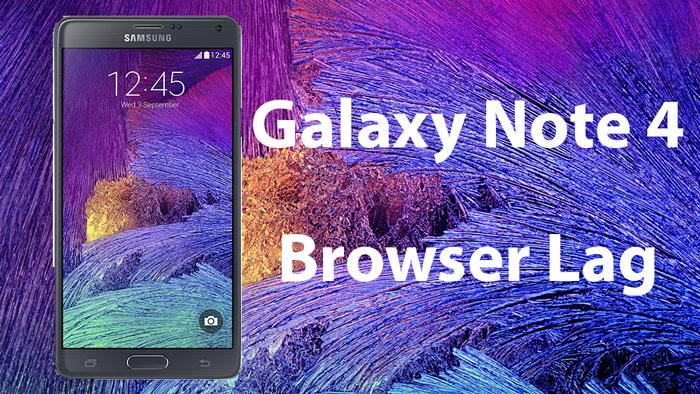 Как исправить проблему задержки веб-браузера на Galaxy Note 4