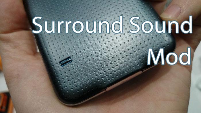 Включить стереофонические динамики объемного звука Galaxy S5