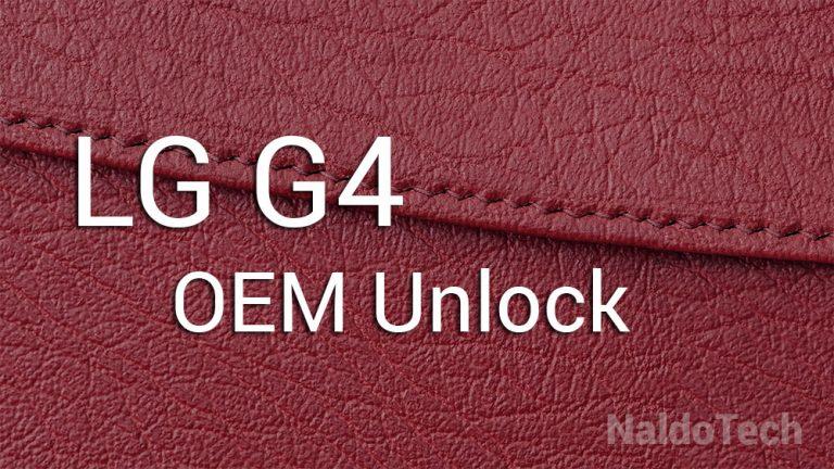 Как включить OEM-разблокировку LG G4 и параметры разработчика