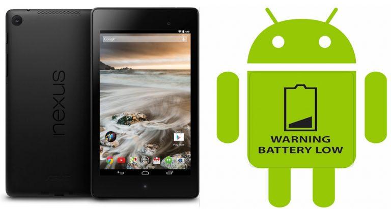 Как исправить проблему разрядки аккумулятора и медленной зарядки Nexus 7