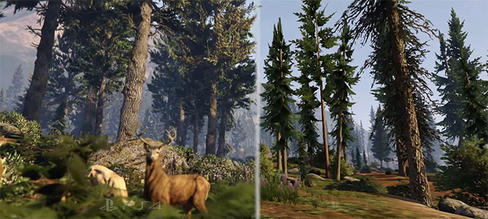 PS4 против PS3 GTA V: сравнение графики