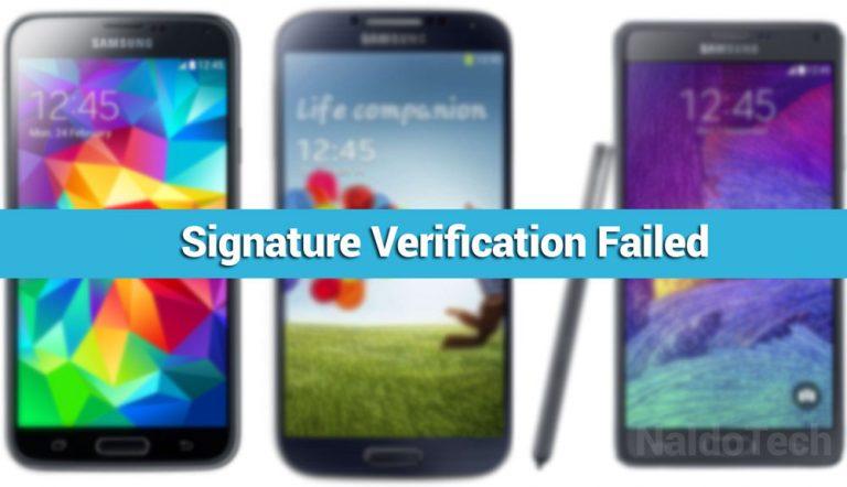 Как исправить ошибку проверки подписи восстановления на устройствах Samsung