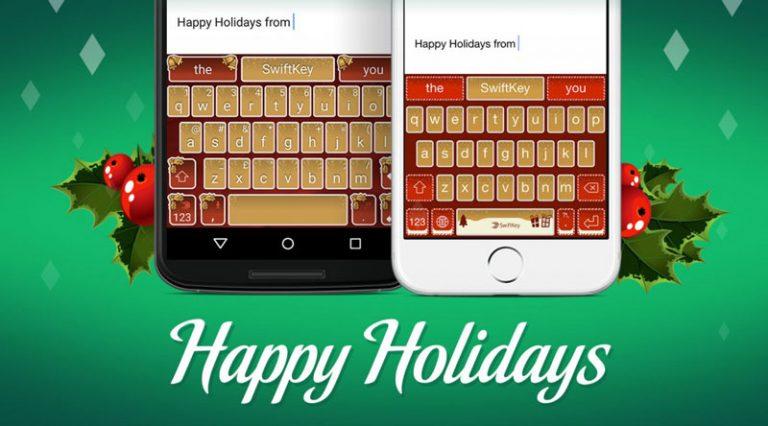 Как загрузить праздничные темы на клавиатуру Swiftkey (праздничные подарки)