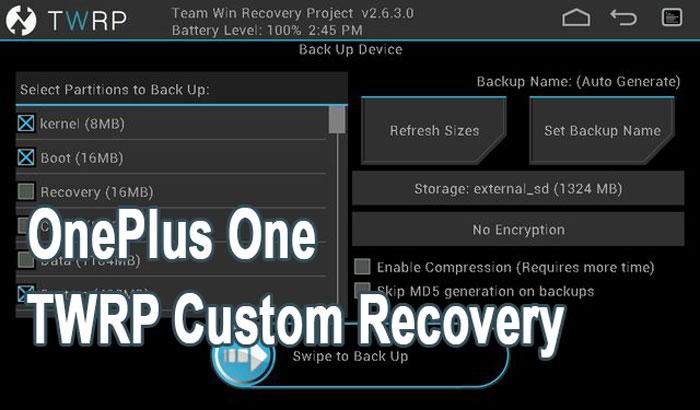 Как установить кастомное восстановление TWRP на OnePlus One