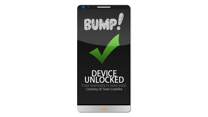 Как разблокировать LG G3 с помощью Bump