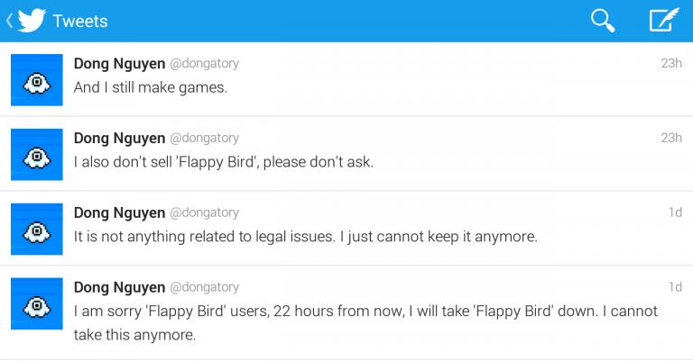 Flappy Bird удален из Play & App Store!  Разработчик не смог справиться со стрессом